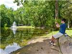 View larger image of Boy fishing on lake at RONDOUT VALLEY RESORT image #6