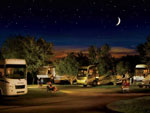 View larger image of RVs camping at night at LAZYDAYS RV RESORT image #1