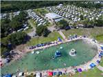 View larger image of Aerial view of swimming area at WEKIVA FALLS RV RESORT image #1