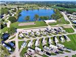 View larger image of Aerial view at LEISURE LAKE RESORT image #1