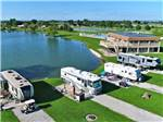 View larger image of Trailers camping on the water at LEISURE LAKE RESORT image #9