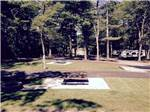 View larger image of Picnic tables at campsite at CAPE COD CAMPRESORT  CABINS image #8