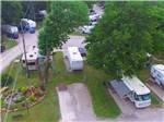 View larger image of Aerial view over campground at RIVERSIDE RV RESORT  CAMPGROUND image #7