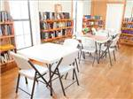 View larger image of Library with tables at BLUEBERRY HILL RV RESORT image #8