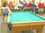 View larger image of Pool table in game room at DEL PUEBLO RV PARK AND TENNIS RESORT image #10