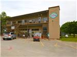 View larger image of Trees with the sun shining thru them at PECAN PARK RIVERSIDE RV PARK image #2