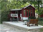 View larger image of Cabin with deck at ARROWHEAD CAMPGROUND image #5