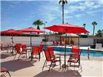 View larger image of Swimming pool with outdoor seating at CAPRI RV RESORT image #2
