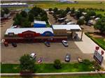 View larger image of Aerial view of entrance at FORT AMARILLO RV RESORT image #7