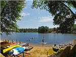 View larger image of Kids kayaking at DANFORTH BAY CAMPING  RV RESORT image #7