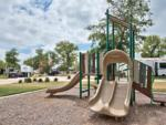 View larger image of Playground with swing set at OAK FOREST RV RESORT image #9