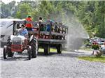 View larger image of Wagon ride at TWIN GROVE RV RESORT  COTTAGES image #10