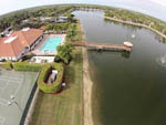 View larger image of Amazing aerial view over resort at PELICAN LAKE MOTORCOACH RESORT image #6