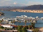 View larger image of Aerial view over marina at COTTONWOOD COVE NEVADA RV PARK  MARINA image #12