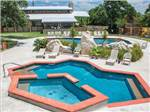 View larger image of Pool and hot tub at LA HACIENDA SUN RV RESORT image #2