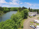 View larger image of Aerial view of river and RV sites at HOQUIAM RIVER RV PARK image #3