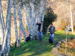 View larger image of Two men walking their dogs at HOQUIAM RIVER RV PARK image #4