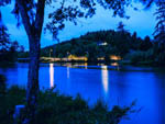 View larger image of View of the river at night at HOQUIAM RIVER RV PARK image #6
