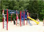 View larger image of Playground with swing set at MEREDITH WOODS 4 SEASON CAMPING AREA image #3
