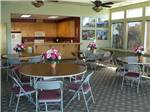 View larger image of Dining area in the lodge at THE LAKES RV  GOLF RESORT image #4