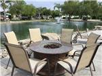 View larger image of Patio area with chairs at THE LAKES RV  GOLF RESORT image #9