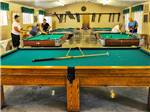 View larger image of Pool tables in game room at SOUTHERN COMFORT RV RESORT image #5