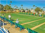 View larger image of Folks playing at the shuffleboard courts at SOUTHERN COMFORT RV RESORT image #6