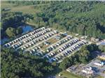 View larger image of Aerial view of site layout at THE WOODS RV PARK  CAMPGROUND image #5