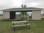View larger image of Patio area with picnic tables at PRAIRIE VIEW RV PARK  CAMPGROUND image #9