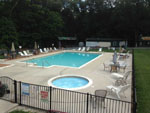 View larger image of Swimming pool and hot tub at DEER RUN CAMPING RESORT image #4
