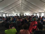 View larger image of A very large meeting tent at ARROWHEAD POINT CAMPGROUND AND CABINS image #5