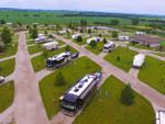 View larger image of Aerial view of sites at LAZY ACRES RV PARK image #8