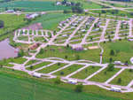 View larger image of Aerial view of campground at LAZY ACRES RV PARK image #9