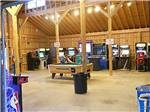 View larger image of Pool table in game room at AMERICAN WILDERNESS CAMPGROUND image #5