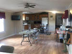 View larger image of Kitchen inside lodging at FROG CITY RV PARK image #10