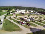 View larger image of Aerial view over campground at HIDDEN LAKE RV RESORT image #8