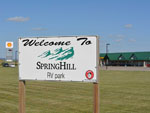 View larger image of Sign at entrance to RV park at SPRING HILL RV PARK image #1