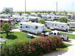 View larger image of Aerial view over campground at JAMAICA BEACH RV RESORT image #2