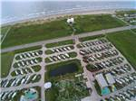 View larger image of Amazing aerial view over resort at JAMAICA BEACH RV RESORT image #3