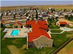 View larger image of Aerial view of well groomed community area at OASIS RV RESORT image #1