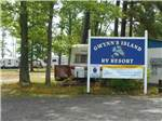 View larger image of Sign leading into campground resort at GWYNNS ISLAND RV RESORT  CAMPGROUND image #1