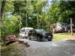View larger image of Patio area with picnic table at FRANKLIN RV PARK  CAMPGROUND image #2