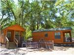 View larger image of Cabins with decks at MORGAN HILL RV RESORT image #9