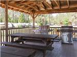 View larger image of Patio area with picnic tables at LONE MOUNTAIN RV RESORT AND TIPI CAMPGROUND image #3