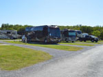 View larger image of Paved RV sites with grassy area on either side at COFFEE CREEK RV RESORT  CABINS image #12
