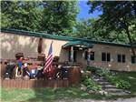 View larger image of The front office with an American flag at RIVER VIEW CAMPGROUND image #2