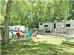 View larger image of RVs and trailers at campground at LAKELAND CAMPING RESORT image #1