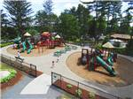 View larger image of Aerial view over playground at NORMANDY FARMS FAMILY CAMPING RESORT image #4
