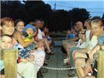 View larger image of People dressed in costumes for Halloween at CIRCLE CG FARM CAMPGROUND image #6