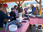 View larger image of People lining up for food at WINDING RIVER RESORT image #9